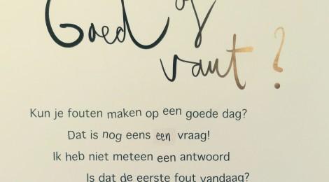 Poster goed of vaut?
