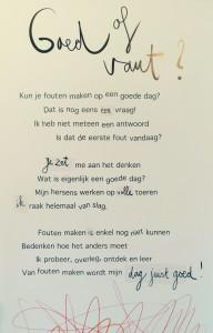 gedicht goed of vaut tekst